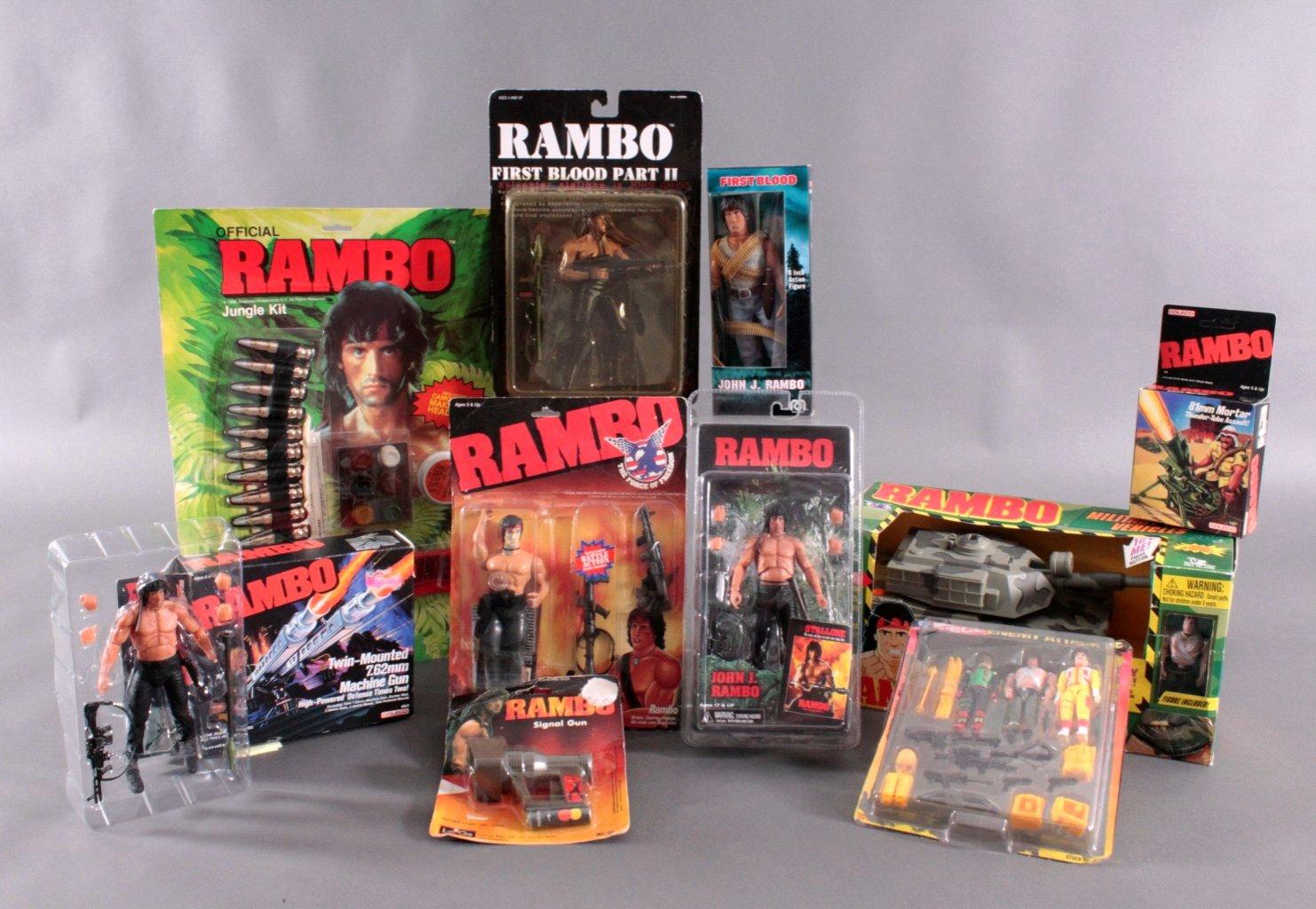 RAMBO –  Figuren und Zubehör 11 Teile