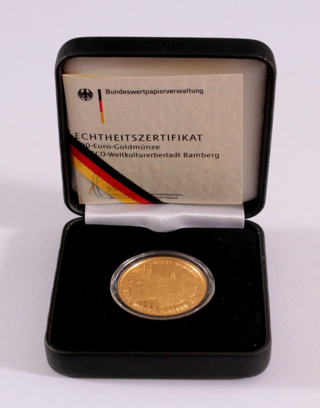 Goldmünze 100 Euro Bamberg-2