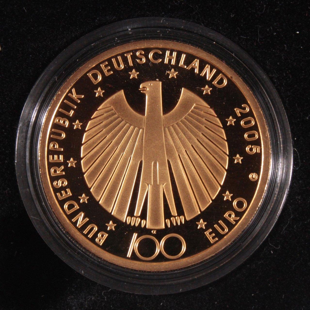 Goldmünze 100 Euro Fifa Fußball-Weltmmeisterschaft 2006-1
