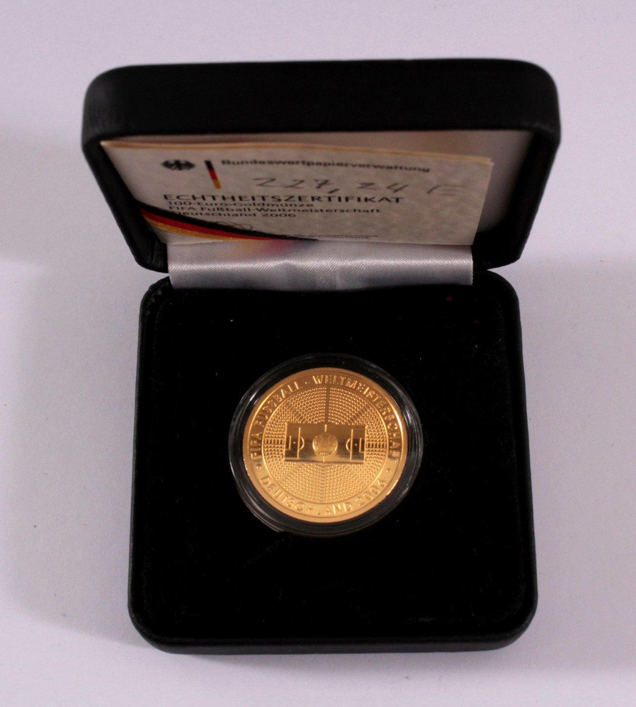 Goldmünze 100 Euro Fifa Fußball-Weltmmeisterschaft 2006-2