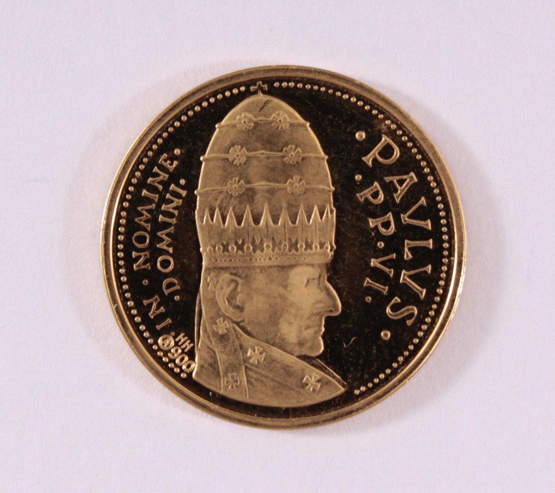 Goldmedaille 900/000 GG. Johannes XXIII