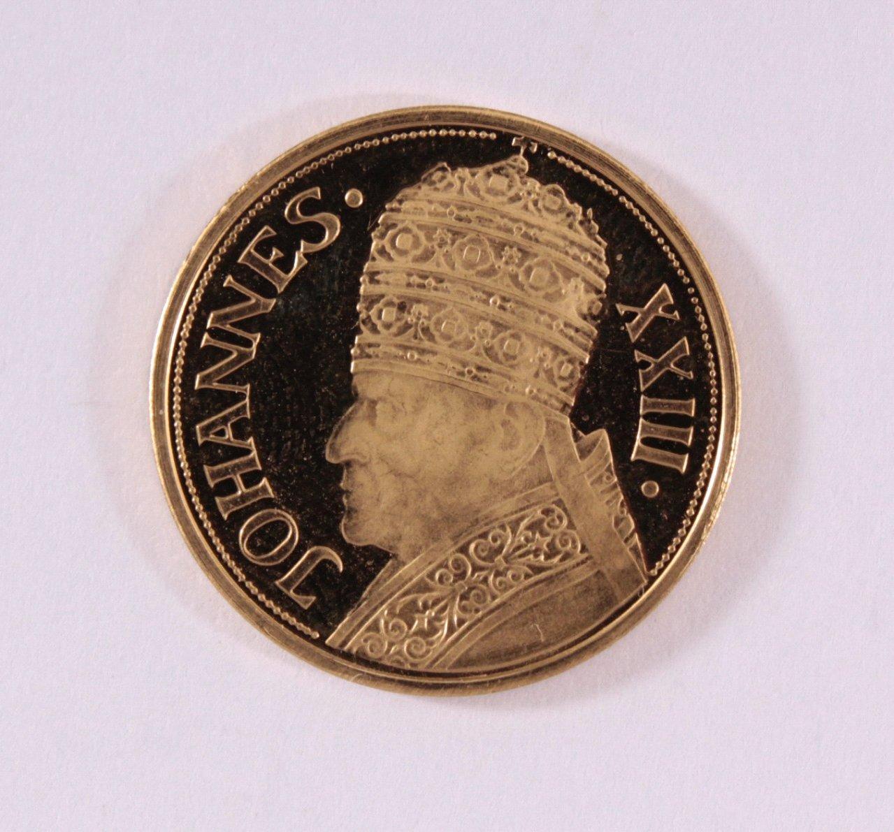 Goldmedaille 900/000 GG. Johannes XXIII-1