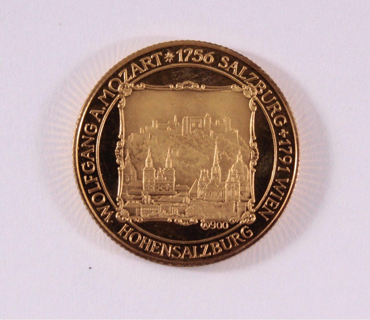 Goldmedaille 900/000 GG. Mozart-1