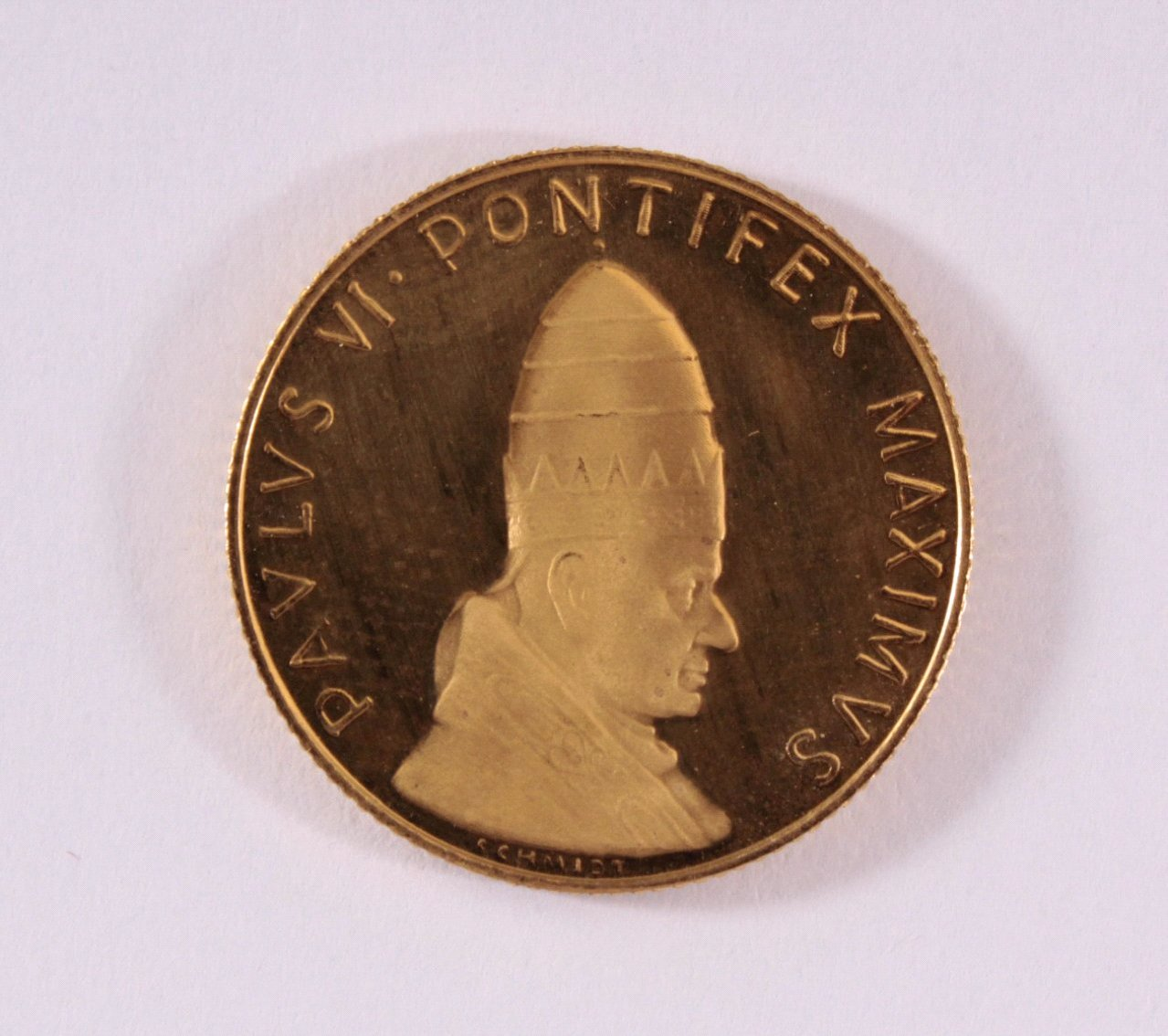 Goldmedaille 900/000 GG. Paulus Pontifex Maximus