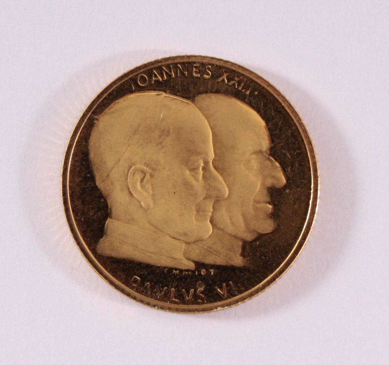 Goldmedaille 900/000 GG. Paulus VI Johannes XXIII