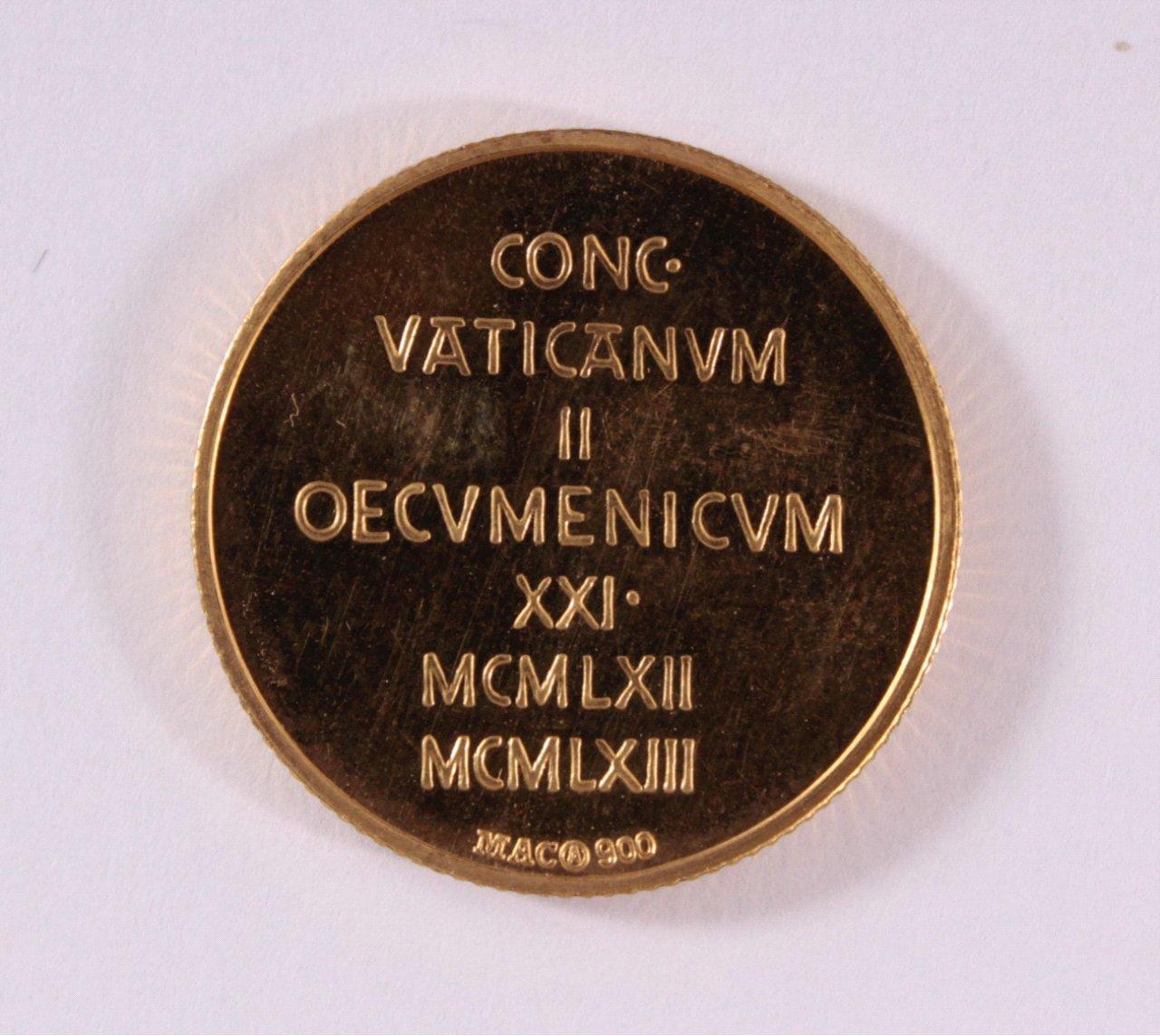 Goldmedaille 900/000 GG. Paulus VI Johannes XXIII-1