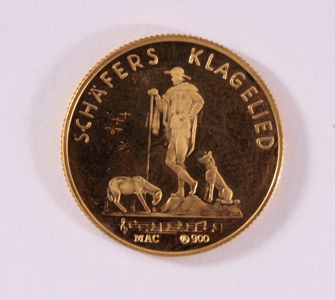 Goldmedaille 900/000 GG. Franz Schubert-1