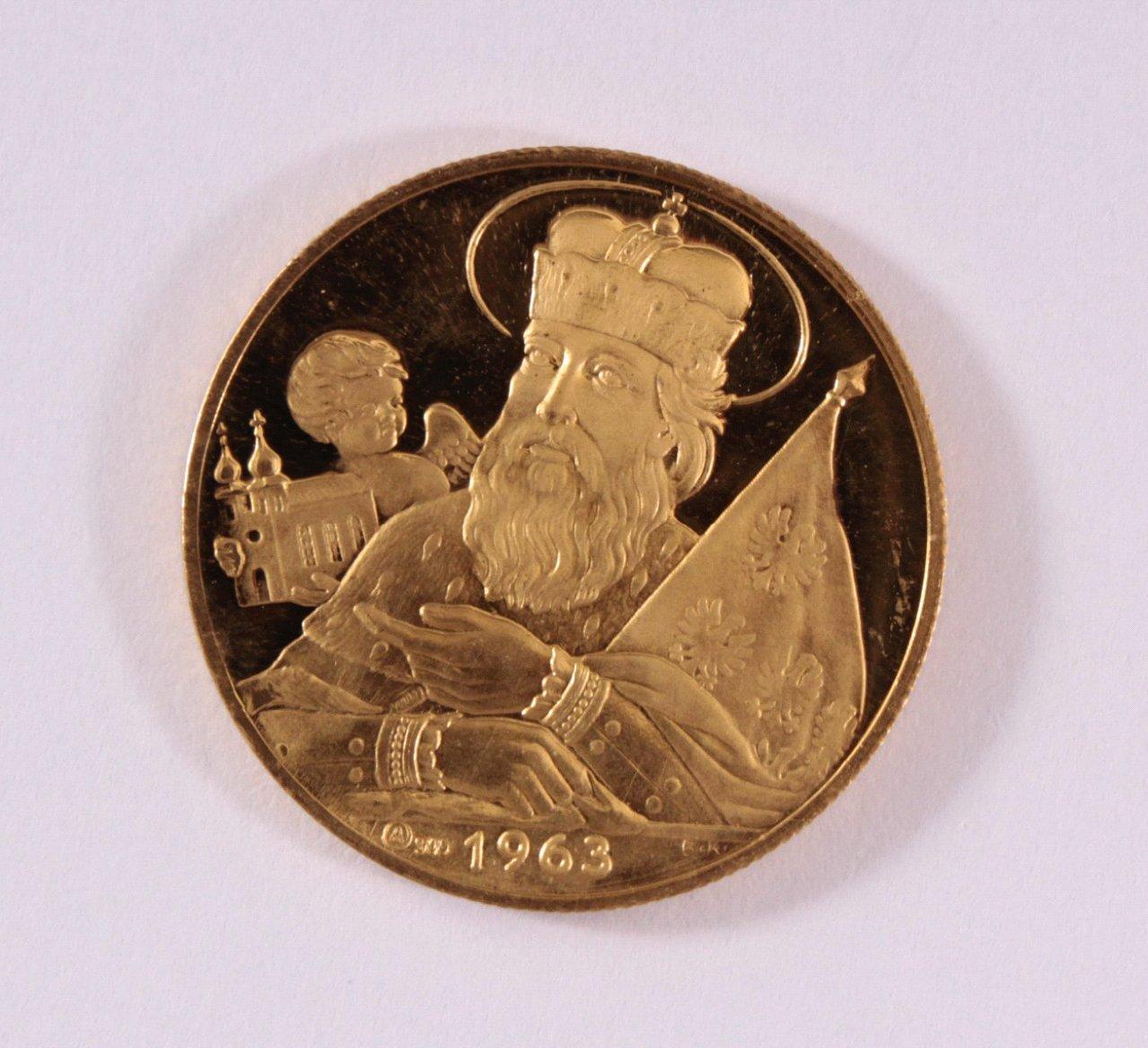 Goldmedaille 900/000 GG. Leopoldus von 1963