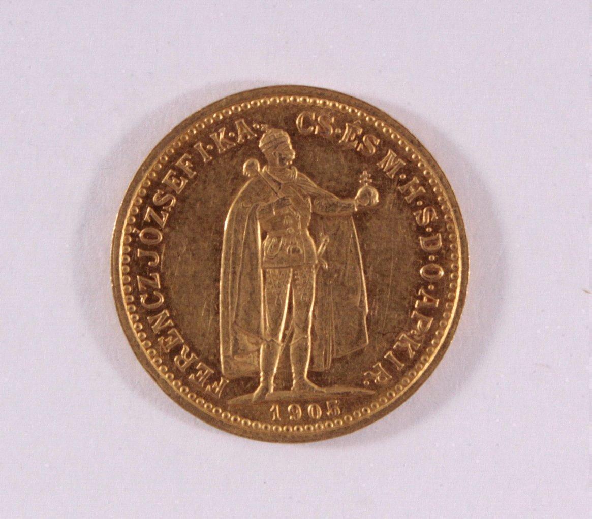 Österreich-Ungarn, 10 Korona 1905, Kursgoldmünze