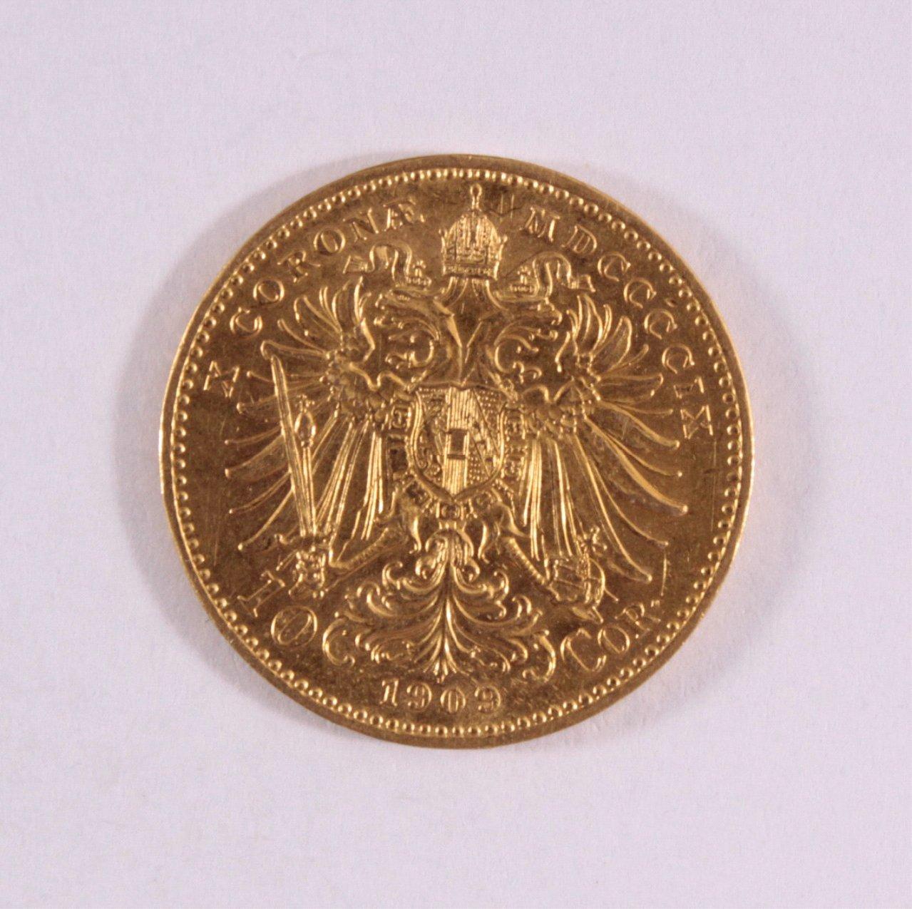 Österreich-Ungarn, 10 Korona 1909, Kursgoldmünze-1