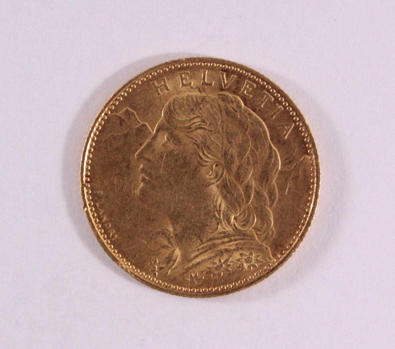 Schweiz, 10 Francs 1922
