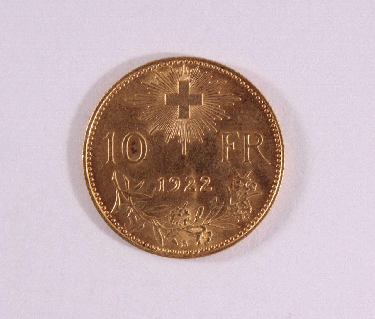 Schweiz, 10 Francs 1922-1