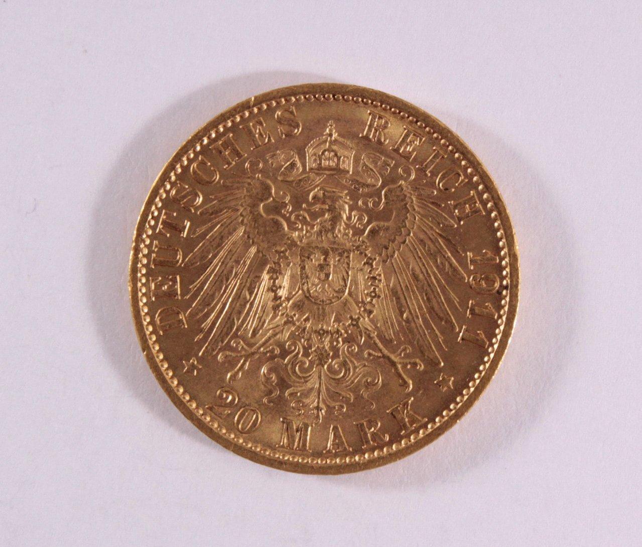 Preußen, 20 Mark Wilhelm II 1911 A-1