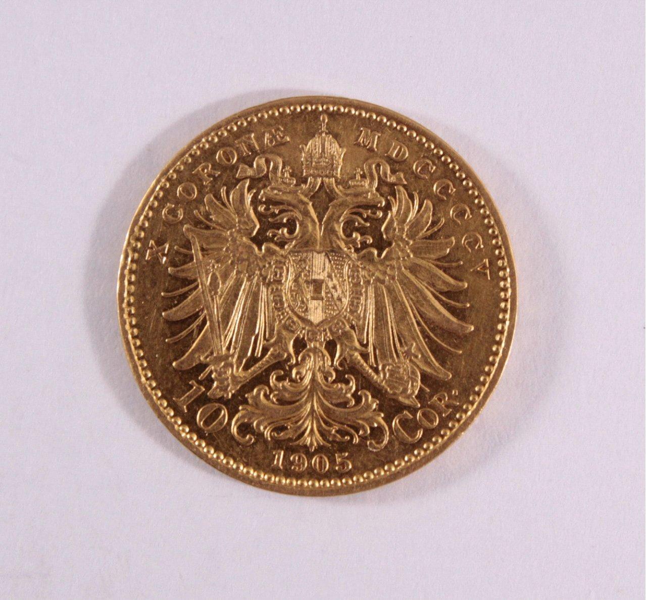Österreich-Ungarn, 10 Korona 1905, Kursgoldmünze-1