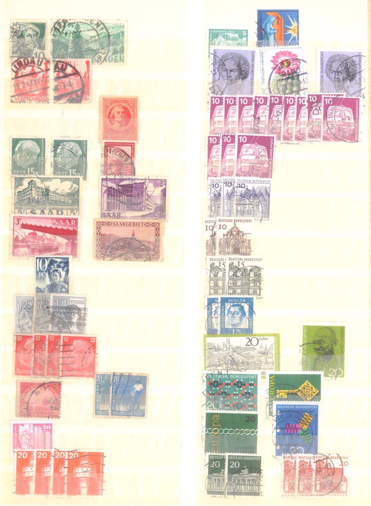 Kleiner Briefmarkennachlass Alle Welt-11