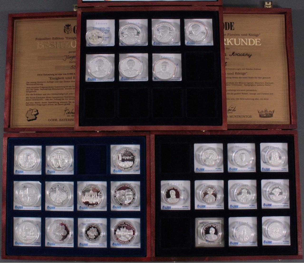 Sammlung Silbermedaillen