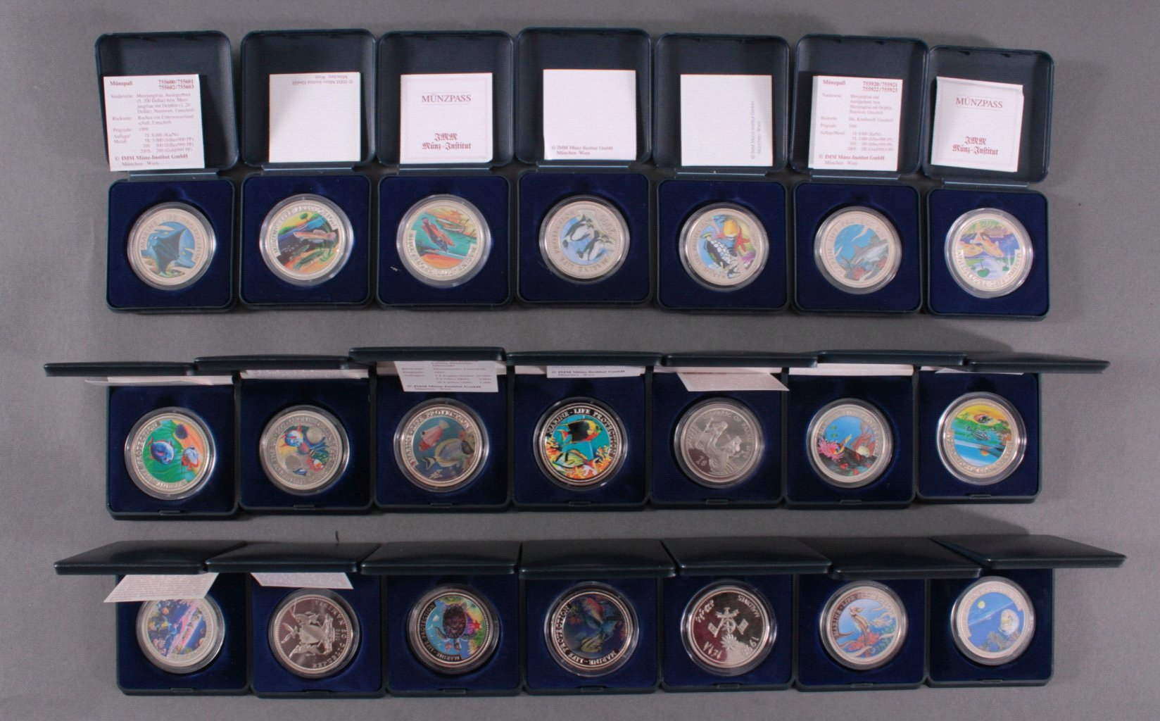 Sammlung Farbmünzen