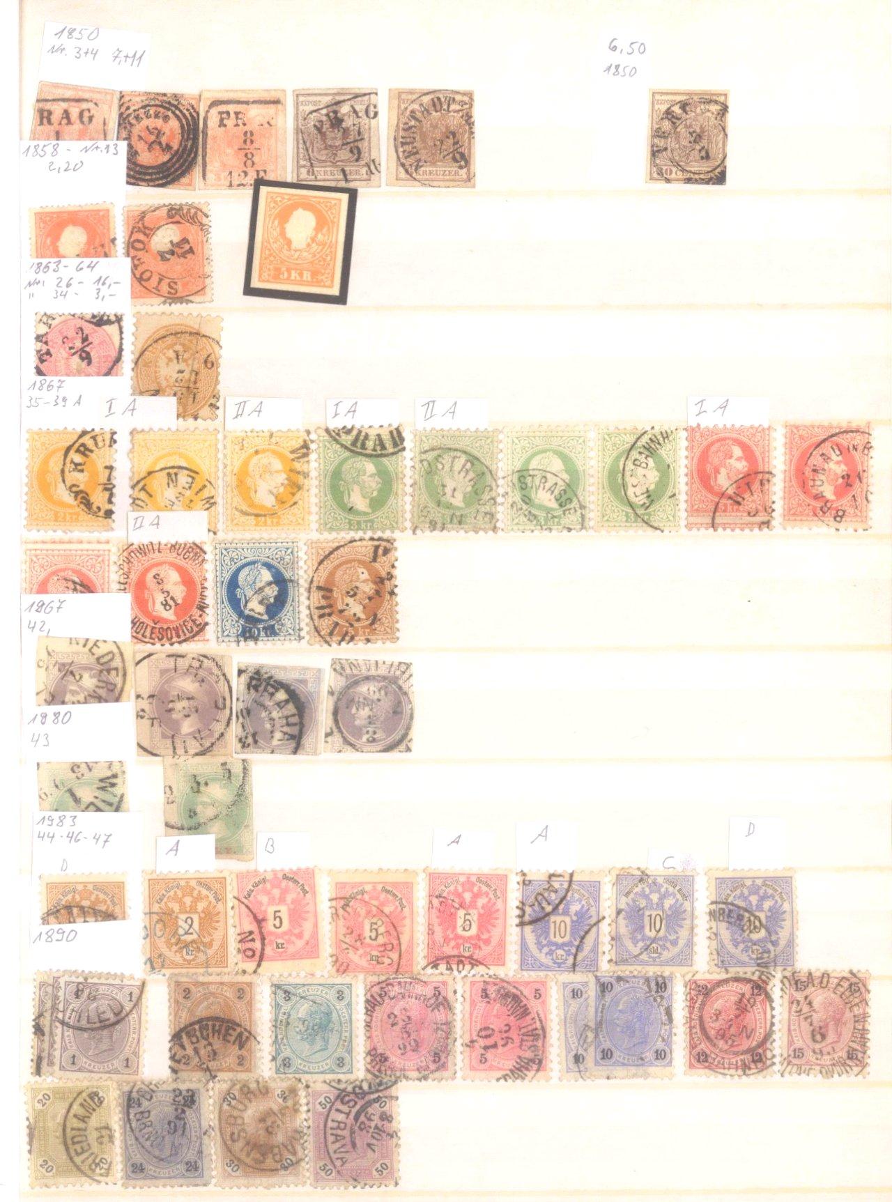 Österreich 1850-2001 gestempelt