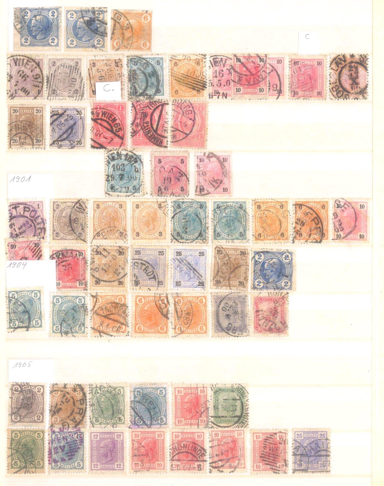 Österreich 1850-2001 gestempelt-1
