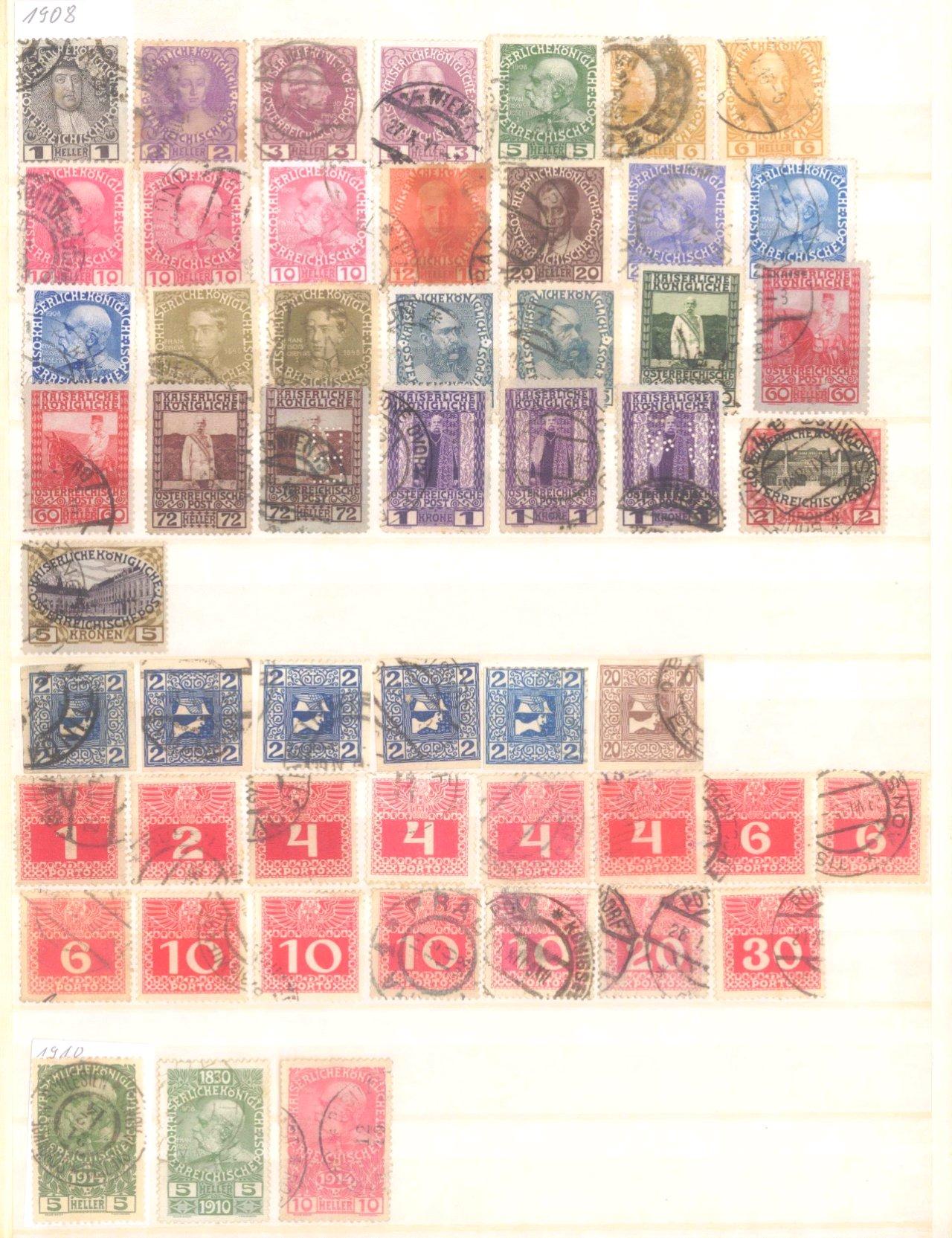 Österreich 1850-2001 gestempelt-2