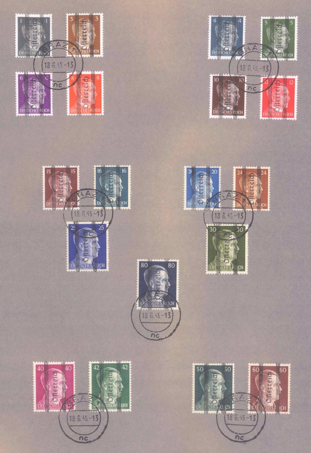 Österreich 1850-2001 gestempelt-3