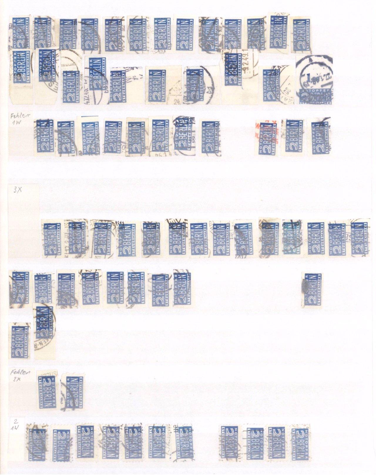 Typensammlung AM Post und Zwangszuschlagsmarke-1