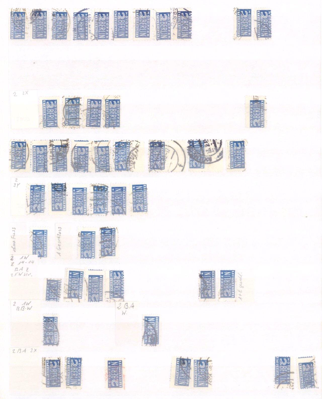 Typensammlung AM Post und Zwangszuschlagsmarke-2