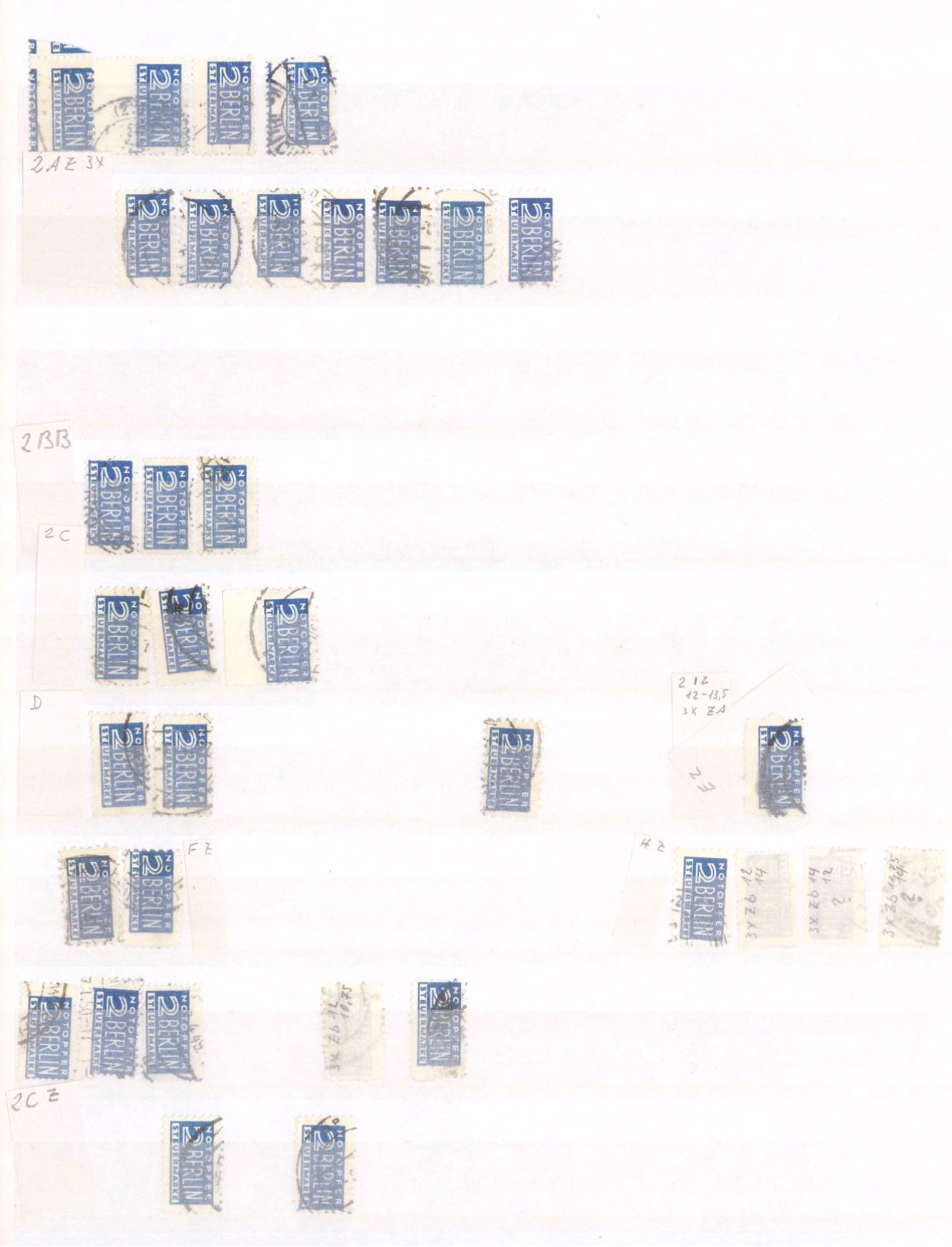 Typensammlung AM Post und Zwangszuschlagsmarke-3