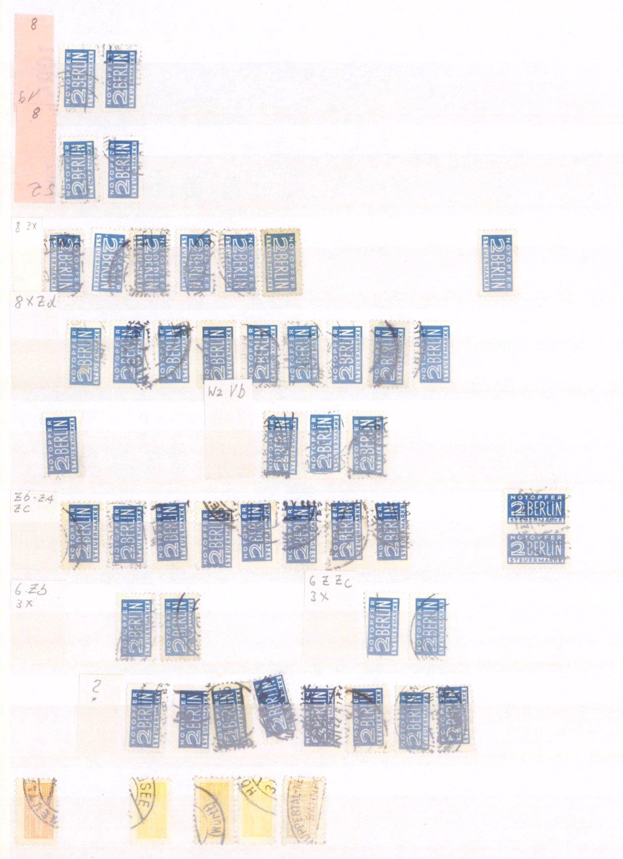 Typensammlung AM Post und Zwangszuschlagsmarke-6