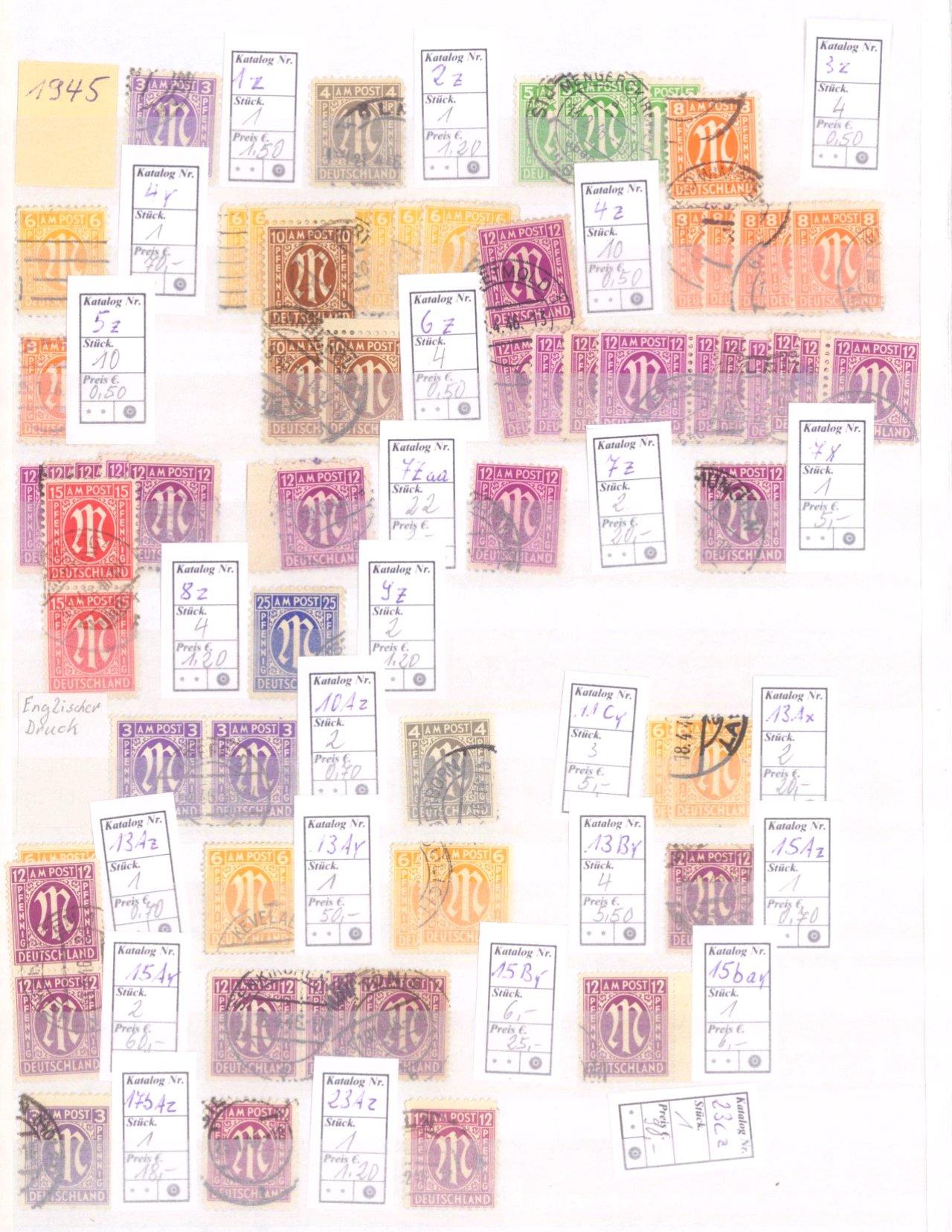 Typensammlung AM Post und Zwangszuschlagsmarke-7