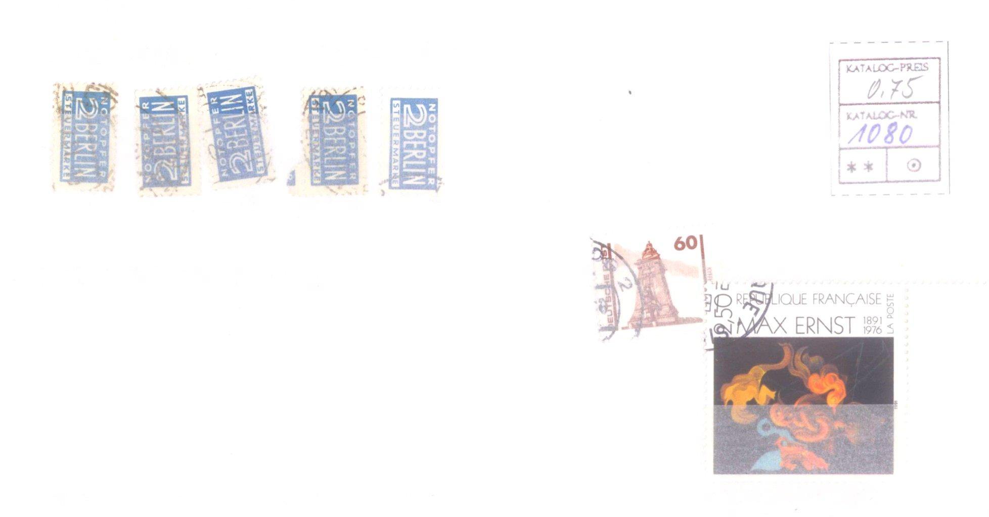 Typensammlung AM Post und Zwangszuschlagsmarke-10