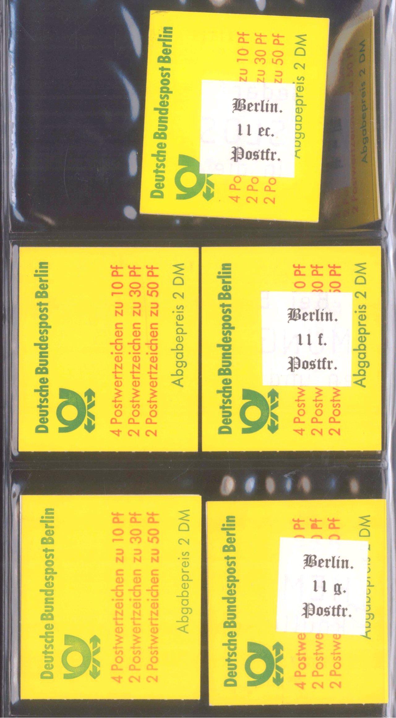 Über 170 Markenheftchen Bund, Berlin-2