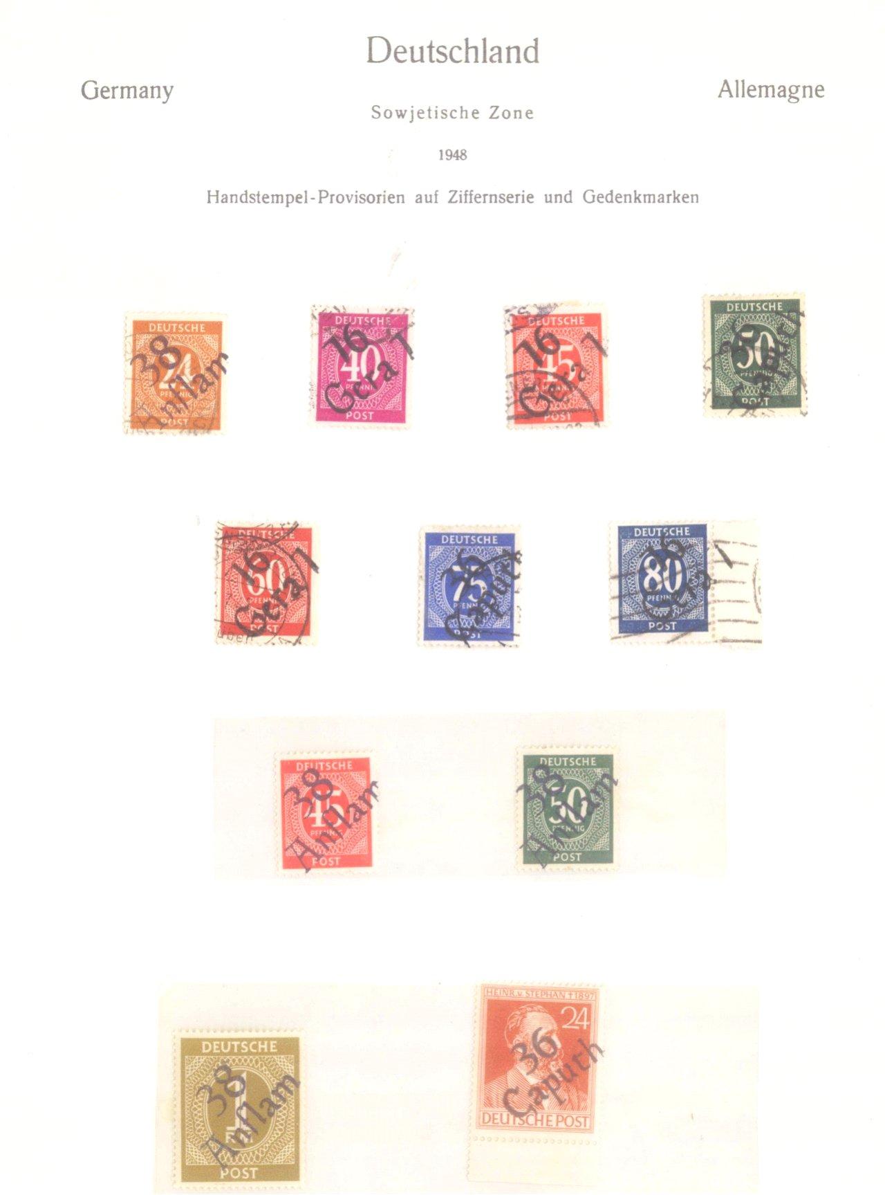Kleine Sammlung gestempelte SBZ, Zonen und Allgemeine Ausg.-4