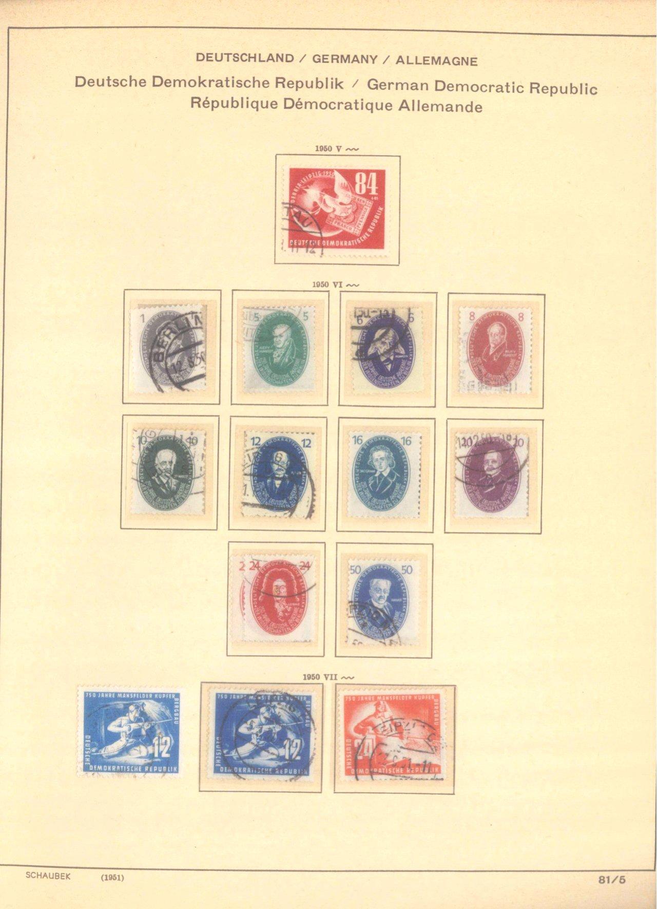 Gestempelte Sammlung DDR 1949-1990-1