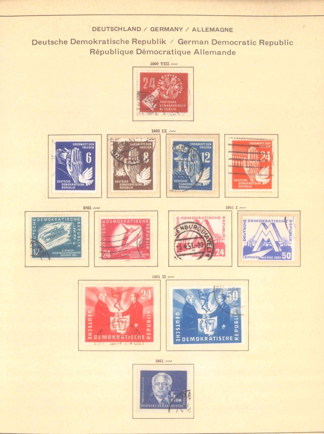 Gestempelte Sammlung DDR 1949-1990-3