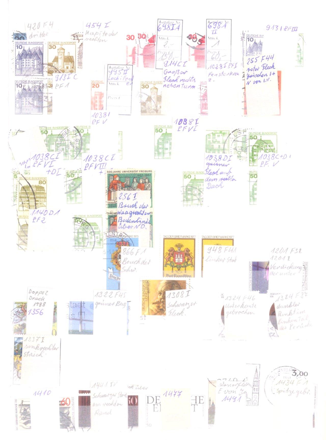 Plattenfehler Sammlung Deutschland-2