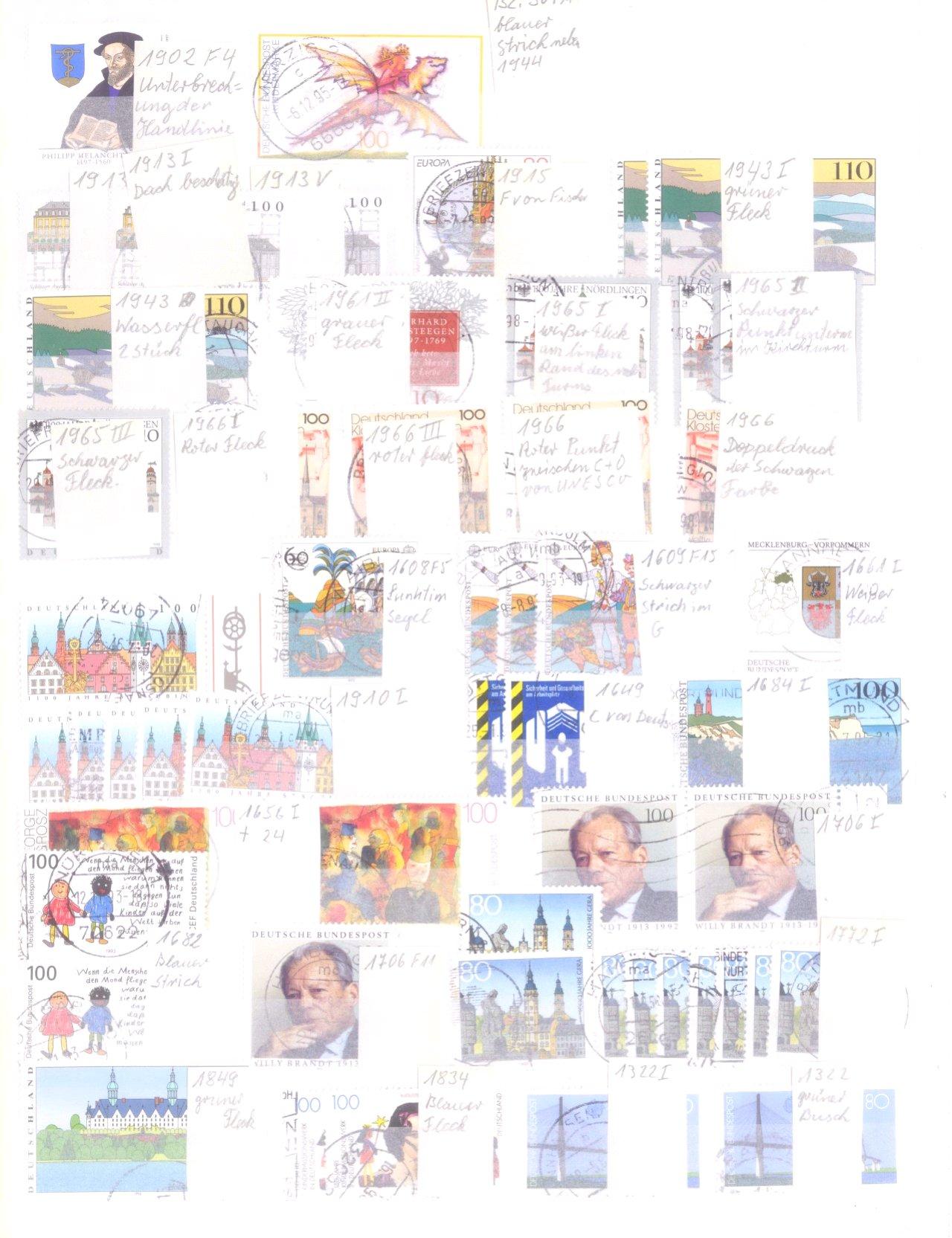 Plattenfehler Sammlung Deutschland-4