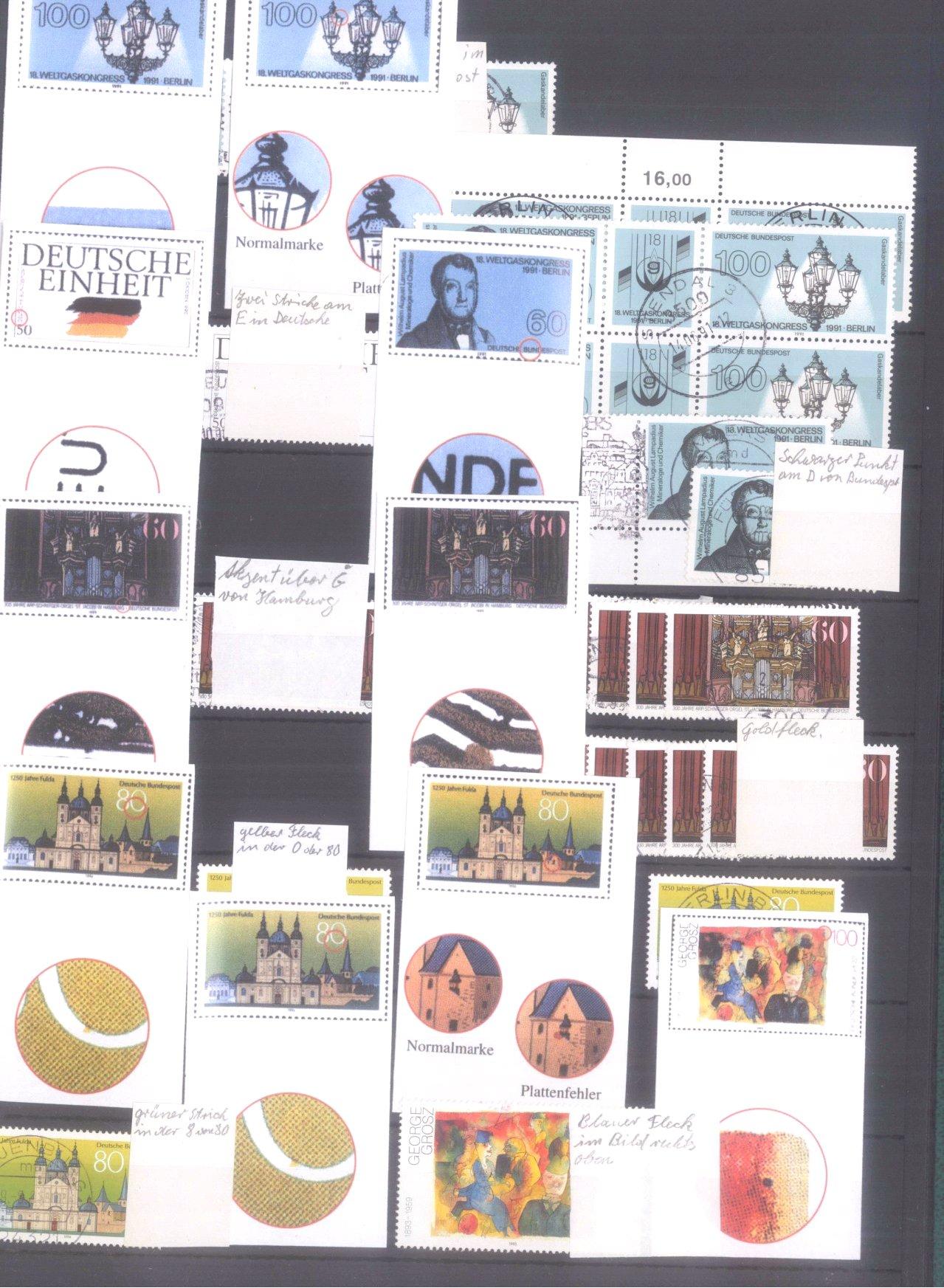 Plattenfehler Sammlung Deutschland-8