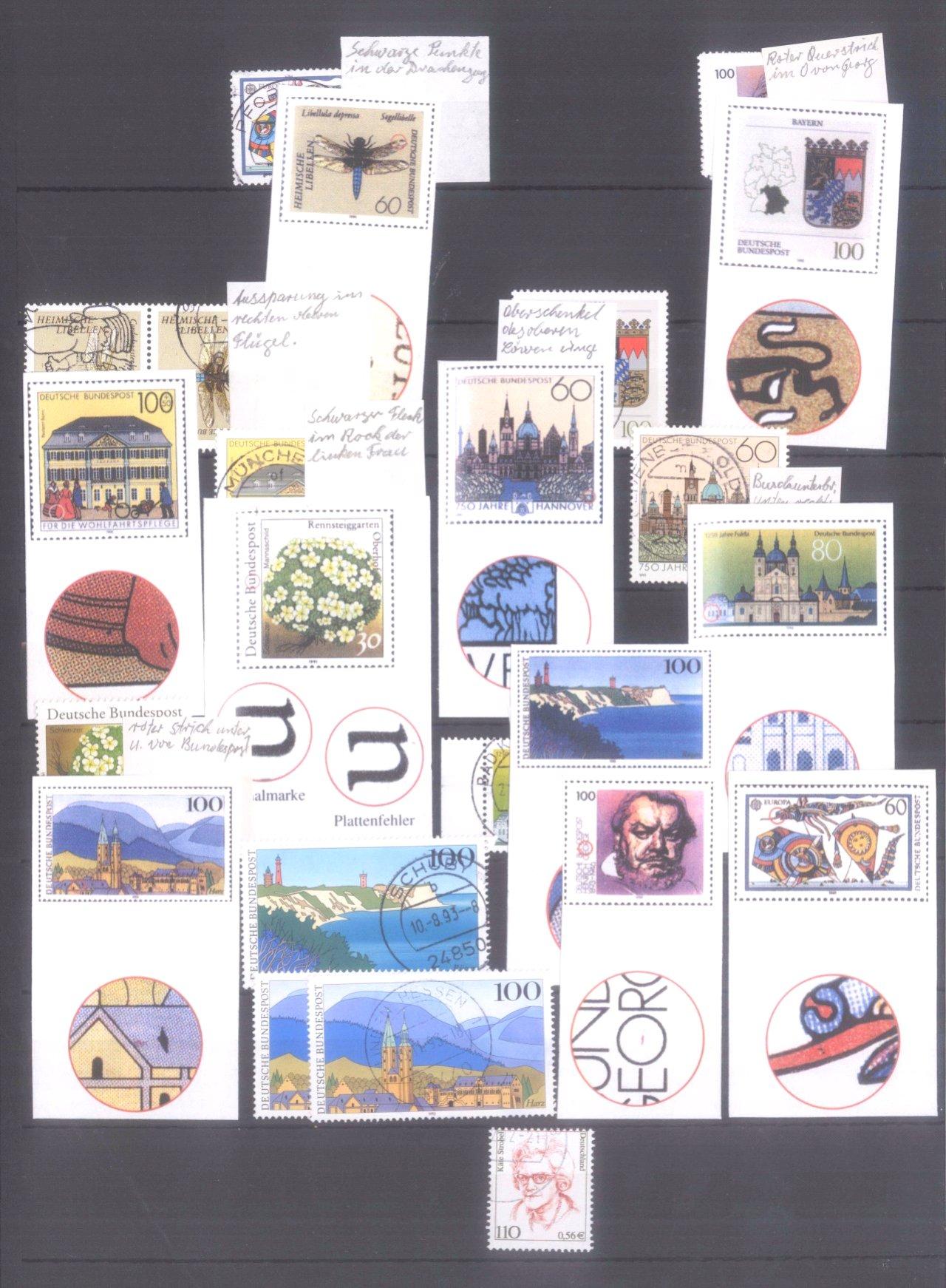 Plattenfehler Sammlung Deutschland-9