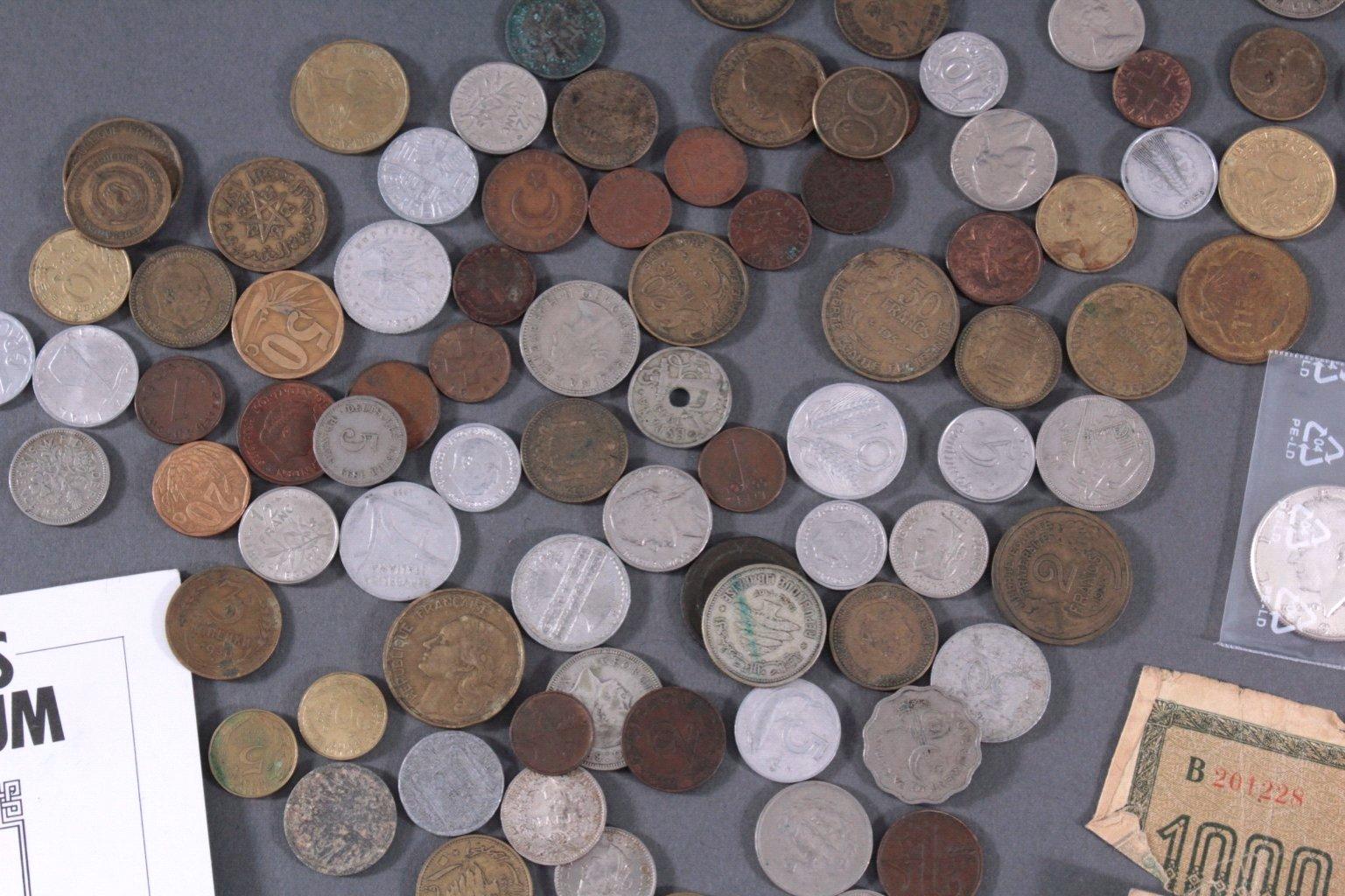 Konvolut Münzen Alle Welt mit 20 Mark Goldmünze von 1873-1