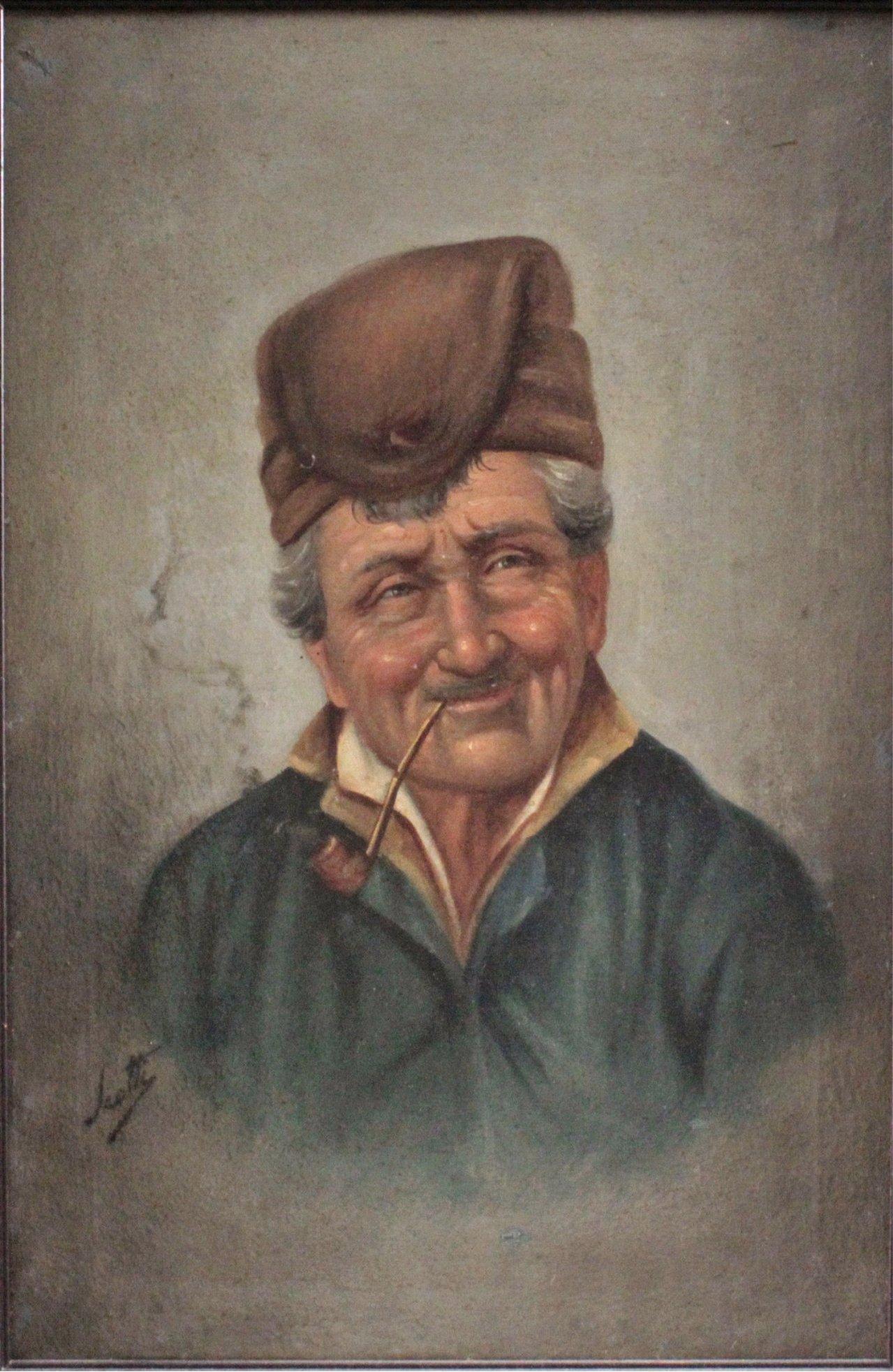 Scotty ?-?, Pfeife rauchender Mann mit Hut