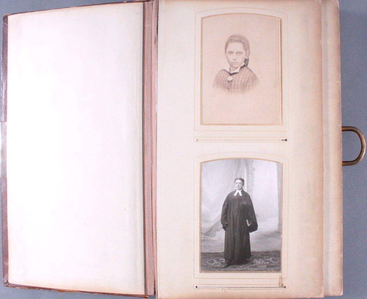 Einsteck-Fotoalbum um 1900-2