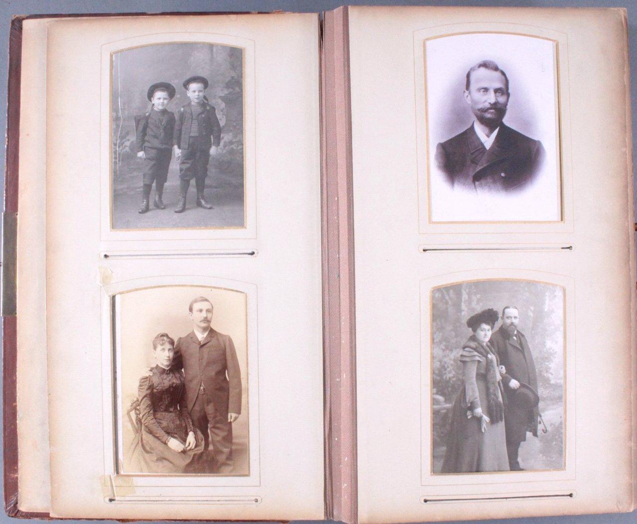Einsteck-Fotoalbum um 1900-4