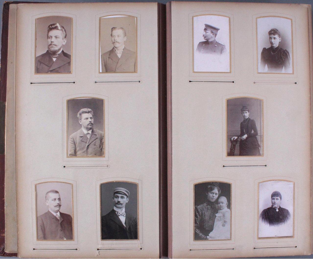Einsteck-Fotoalbum um 1900-8