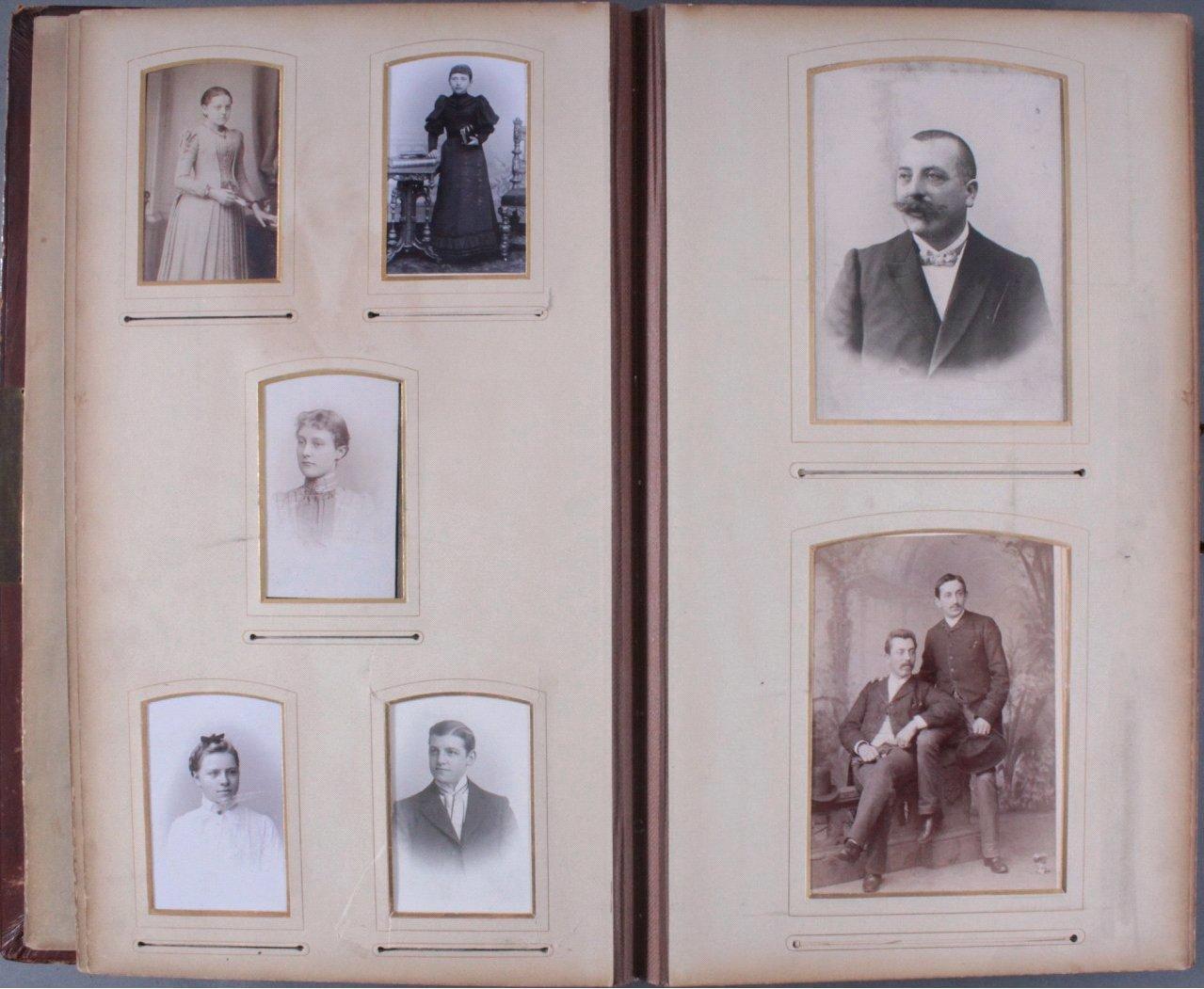 Einsteck-Fotoalbum um 1900-10