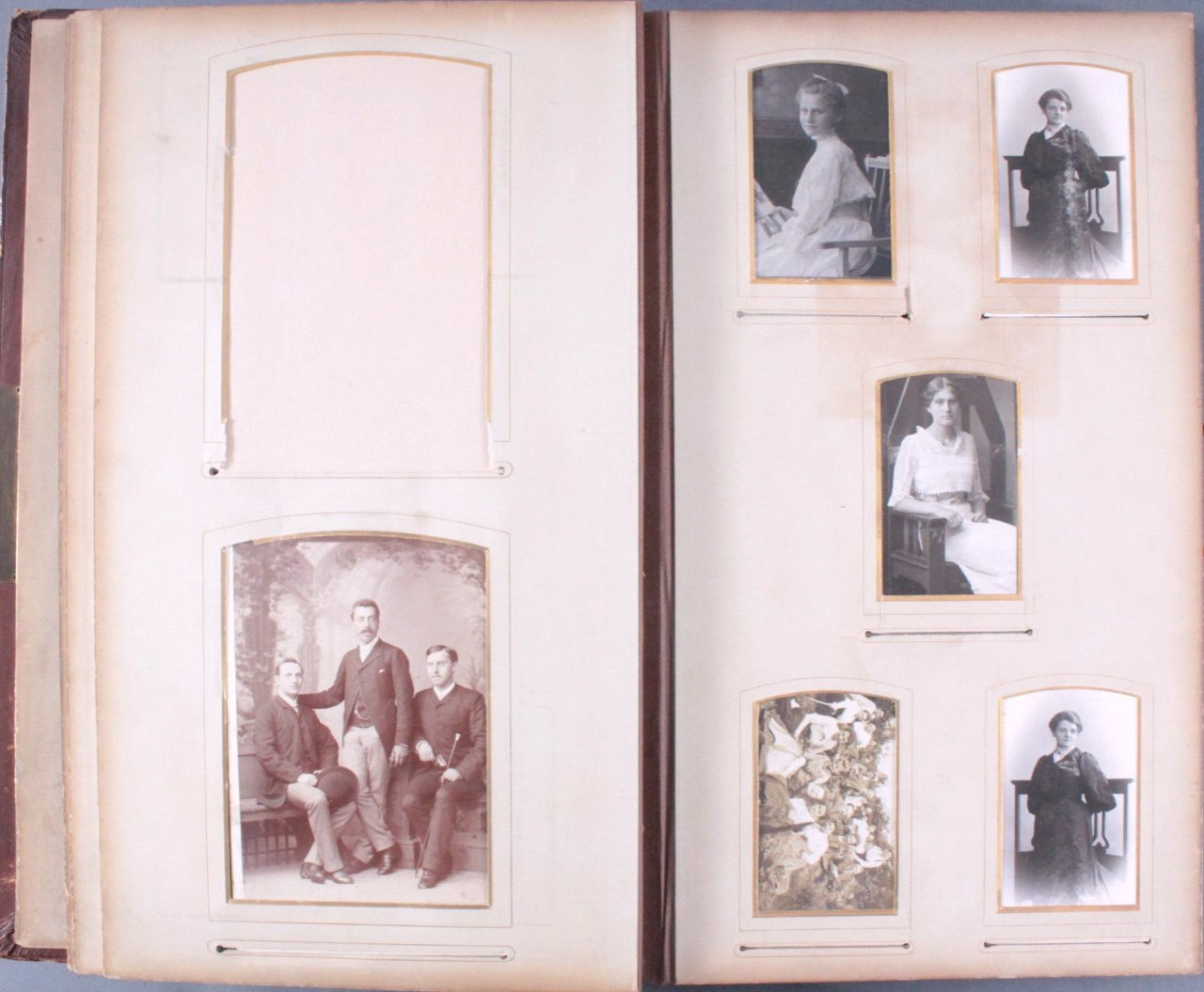 Einsteck-Fotoalbum um 1900-12