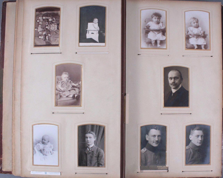 Einsteck-Fotoalbum um 1900-14