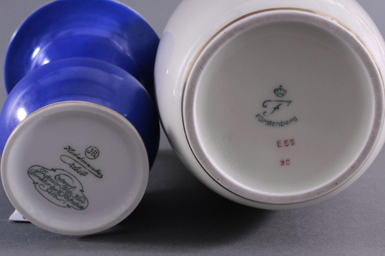 Zwei Porzellan Vasen. Hutschenreuther und Fürstenberg-1