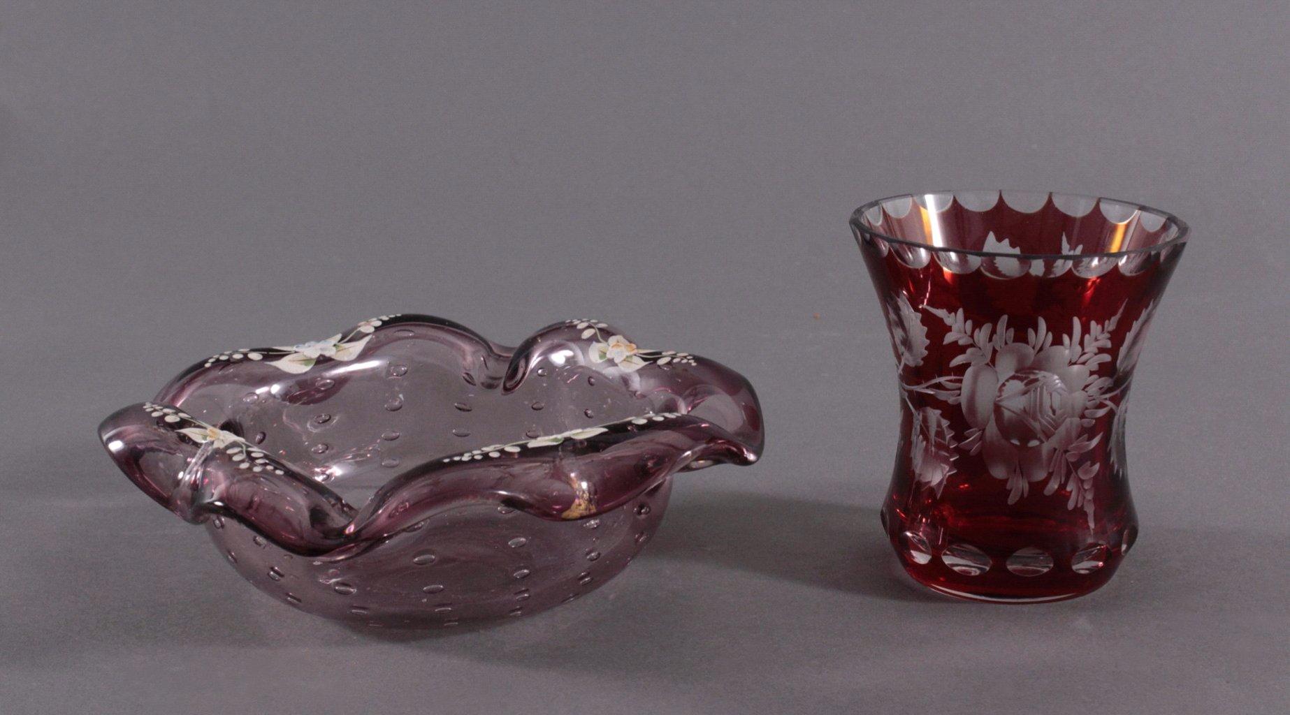 Zwei Teile Glas