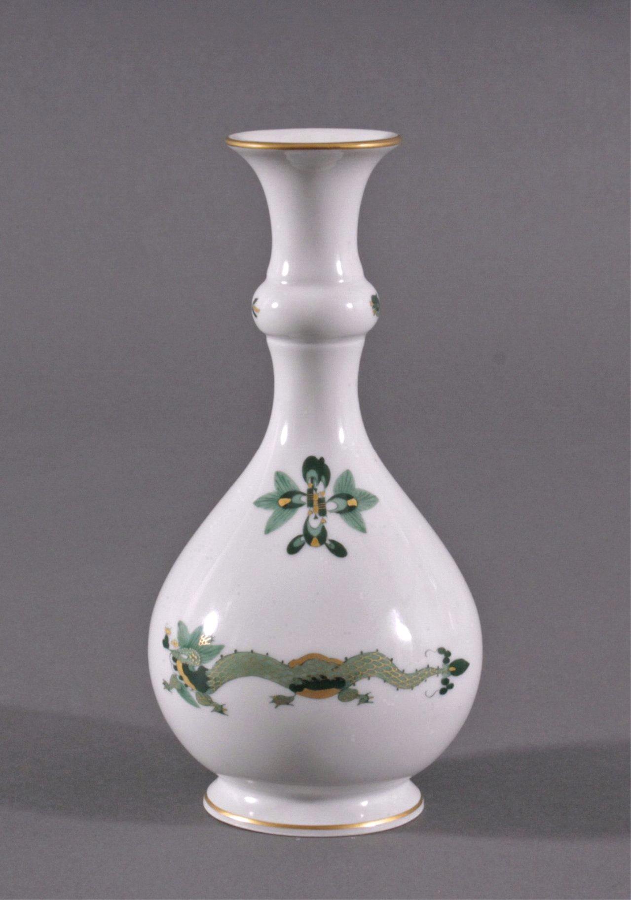 """Meissen Vase """"Grüner Reicher Drache"""" 1. Hälfte 20. Jh."""